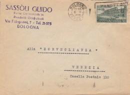LETTERA 1950 CON LIRE 20 UNESCO TIMBRO BOLOGNA (RX647 - 6. 1946-.. Repubblica