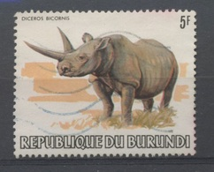 1982  Animaux  5F  Rhinoceroce - 1980-89: Oblitérés