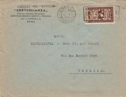 LETTERA 1949 CON 20 LIRE BIENNALE VENEZIA - TIMBRO ANCONA (RX663 - 6. 1946-.. Repubblica