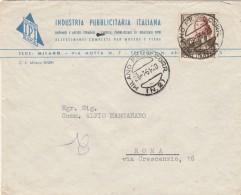 LETTERA 1951 CON 20 LIRE PIETRO VANNUCCI (RX697 - 6. 1946-.. Repubblica
