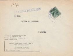RACCOMANDATA CON 1 LIRA BANCA NAZIONALE DEL LAVORO FINE ANNI 40 (RX749 - 1946-.. République