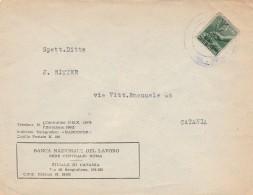RACCOMANDATA CON 1 LIRA BANCA NAZIONALE DEL LAVORO FINE ANNI 40 (RX750 - 1946-.. République
