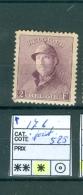 176  X  Petit Point à Gauche - 1919-1920 Behelmter König