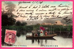 Yokohama Vers Olette Via America - Paris Etranger - View Of Yokohama - Geisha - Barque - Animée - 1909 - Covers & Documents