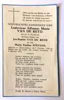 Doodsprentje / Image Mortuaire - Kind / Enfant - Ludovicus VAN DE REYD (Stevens) °Olmen Stotert, 1952 - +1953 (Balen) - Religión & Esoterismo