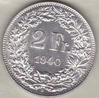 Suisse . 2 Francs 1940 . En Argent - Suisse