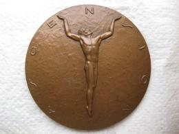 Médaille Religieuse En Bronze Ascension Par P. BOURET - France