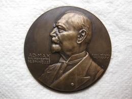 Médaille Adolphe MAX Bourgmestre De Bruxelles, Épreuve Numérotée N°4,par Raoul Bénard 1935 - Unclassified