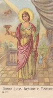 HOLYCARD SANTINO 1922 SANTA LUCIA (piega Centrale) (RX987 - Images Religieuses