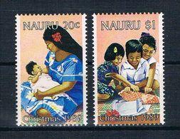 Nauru 1989 Weihnachten Mi.Nr. 365/66 Kpl. Satz ** - Nauru
