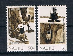 Nauru 1990 Phosphat Mi.Nr. 367/68 Kpl. Satz ** - Nauru