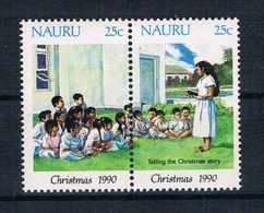 Nauru 1990 Weihnachten Mi.Nr. 369/70 Kpl. Satz ** - Nauru