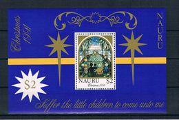 Nauru 1991 Weihnachten Block 8 ** - Nauru