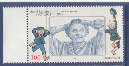 Germany 2007 MNH Scott #2462 100c Astrid Lindgren 100 Years Joint With Sweden - Emissions Communes