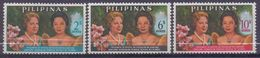 PHILIPPINNES :1965: Y.623-25 Dentelled/avec Trace De Charnière/hinged : ## Visit Of Princess BEATRIX From The ... - Philippines