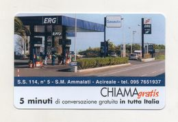 Telecom - Scheda Chiama Gratis - 2002 - ERG ACIREALE - 5 Minuti Di Conversazione Gratuita - NUOVA - (FDC8273) - Schede GSM, Prepagate & Ricariche