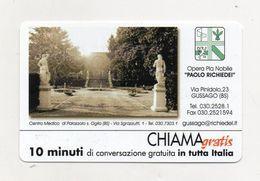 Telecom - Scheda Chiama Gratis - 2001 - OPERA PIA - 10 Minuti Di Conversazione Gratuita - NUOVA - (FDC8274) - [2] Sim Cards, Prepaid & Refills