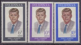PHILIPPINNES :1965: Y.617-19 Dentelled/avec Trace De Charnière/hinged:##48th Anniversary Of The Death Of J.F. KENNEDY## - Philippines