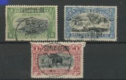 30, 33, 36  Ø Surch Locale    Cote 33,- Euros - Congo Belge