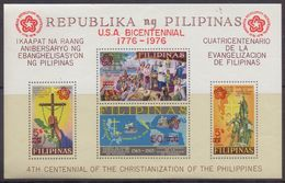 PHILIPPINNES :1976: Y.BF9a Not Dentelled/neuf/MNH : ## 200th Anniversary Of The Independance Of The U.S.A. ## : HISTORY, - Philippines
