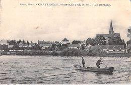 [49] Maine Et Loire > CHATEAUNEUF Sur SARTHE Le Barrage (pêcheur Barque)  (Editions :Vernez )*PRIX FIXE - Chateauneuf Sur Sarthe