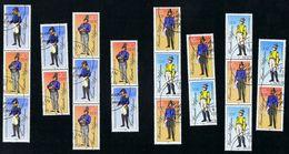 9. Februar 1986, Historische Postuniformen, Michelkatalognumer 2997 II/3000 II, Alle Zusammendrucke Siehe Scan - Zusammendrucke