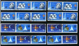 25. März 1986, 25 Jahre Bemannter Weltraumflug, Michelkatalognumer 3005/3008, Alle Zusammendrucke Siehe Scan - Zusammendrucke