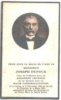 Joseph Dufour. Veuf De Adolphine Jaivenois Et Marie Vanderslachmolen. Décédé à Chièvres. 1928. - Décès