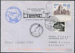 Spain Polar Antarctic Base Ship HESPERIDES Cover - 2001-10 Storia Postale