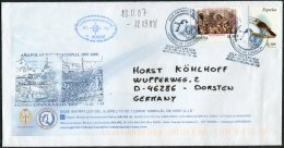 2008 Spain Polar Antarctic Base Ship HESPERIDES Cover. Isla Decepcion. Deception - 1931-Oggi: 2. Rep. - ... Juan Carlos I