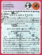 Le Manifeste De Brunswick, 1792, Révolution - Histoire