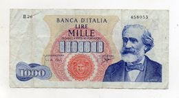 """Italia - Banconota Da Lire 1.000 """"Verdi """"- Medusa - 1° Tipo - """"R2"""" - Decreto 25 Luglio 1964 - (FDC8276) - [ 2] 1946-… : République"""
