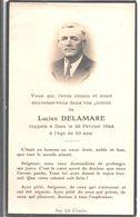 Lucien Delamare. Décédé En 1944. - Décès