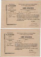VP11.856 - 1880 - Commune De VEYRE - MONTON - Carte D'Electeur X 2 - Sin Clasificación