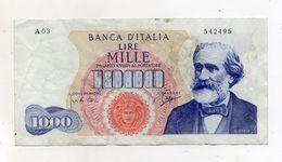"""Italia - Banconota Da Lire 1.000 """"Verdi """"- Medusa - 1° Tipo - Decreto 14 Luglio 1962 - (FDC8278) - [ 2] 1946-… : République"""