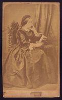 FOTOGRAFIA CDV De Francisca Vale Pereira Cabral, CONDESSA Do BOLHAO. Photographia EMILIA BIEL Porto PORTUGAL 1870s - Photos