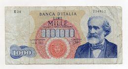 "Italia - Banconota Da Lire 1.000 ""Verdi ""- Medusa - 1° Tipo - ""R"" - Decreto 14 Gennaio 1964 - (FDC8280) - [ 2] 1946-… : République"