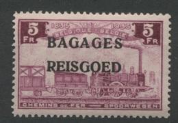 5F Bagages **    Locomotive    Cote  25,- E  Neuf Sans Charnière  Postfris - Gepäck