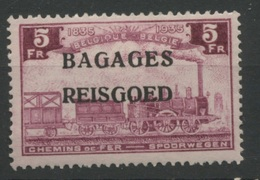 5F Bagages **    Locomotive    Cote  25,- E  Neuf Sans Charnière  Postfris - Luggage