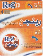 EGYPT - Orange & White, Ring-O Telecard 10 L.E., Chip SC8a, CN : 0209, Used - Egypt