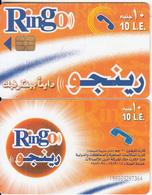 EGYPT - Orange & White, Ring-O Telecard 10 L.E., Chip Incard 4, Used - Egypt