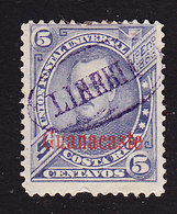 Costa Rica, Guanacaste, Scott #5, Used, Fernandez Overprinted, Issued 1885 - Costa Rica