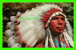 INDIENS DE L'AMÉRIQUE -  INDIAN CHIEF - UN CHEF INDIENS -  DEXTER COLOR CANADA LTD - - Indiens De L'Amerique Du Nord