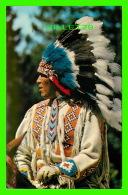 INDIENS DE L'AMÉRIQUE - A NORTH AMERICAN INDIAN IN TRADITIONAL HEAD-DRESS -  TRAVELTIME - - Indiens De L'Amerique Du Nord