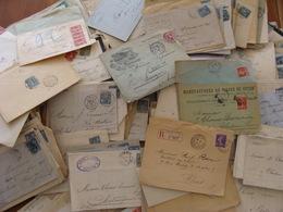 LOT 540 LETTRES DE 1877 A 1920 SAGE MOUCHON SEMEUSE RECOMMANDE . VOIR PHOTOS DU LOT - Marcophilie (Lettres)