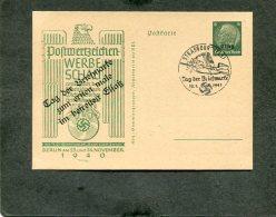 Deutsches Reich Elzas Postkarte Privat 1940 Werbeschau - Privatpost