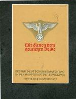 Deutsches Reich Propaganda Postkarte 1937 1. Deutscher Beamtentag - Ohne Zuordnung