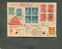 Deutsches Reich Memel R Brief 1922-23 - Memelgebiet