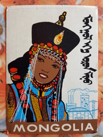Mongolia. National Costume, Woman  Traditional Costume - Old Postcard 1960s - Mongolia