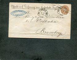 AD Preussen Umschlag 1867 Hufeisenstempel - Preussen